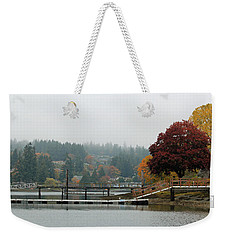 Foggy Day In October Weekender Tote Bag by E Faithe Lester
