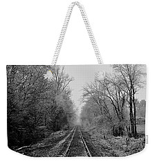 Foggy Ending In Black And White Weekender Tote Bag
