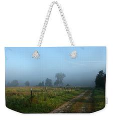 Foggy Field Weekender Tote Bag