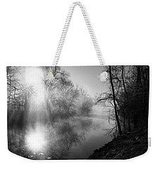 Foggy Misty Morning Sunrise On James River Weekender Tote Bag
