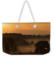 Foggy Morning At Valley Forge Weekender Tote Bag