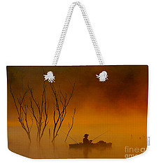 Foggy Morning Fisherman Weekender Tote Bag