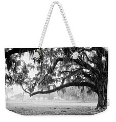Foggy Morning On Coosaw Plantation Weekender Tote Bag