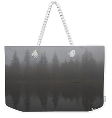 Foggy Morning On The Lake Weekender Tote Bag