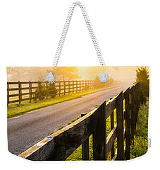 Foggy Morning Weekender Tote Bag by Shelby  Young