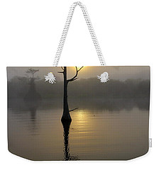 Foggy Morning Sunrise Weekender Tote Bag by Myrna Bradshaw