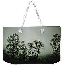 Weekender Tote Bag featuring the photograph Foggy Mountain Morning At The Meadows Of Dan by John Haldane