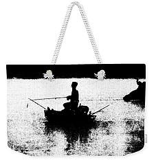 Foggy River Dawn Weekender Tote Bag