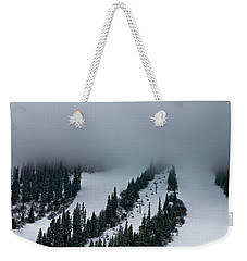 Foggy Ski Resort Weekender Tote Bag by Eti Reid