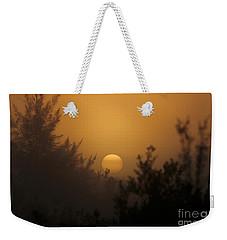 Foggy Sunrise Weekender Tote Bag