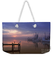 Foggy Sunset Over Swansboro Weekender Tote Bag