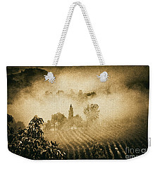 Weekender Tote Bag featuring the photograph Foggy Tuscany by Silvia Ganora