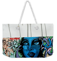 Foggy Venice Beach Weekender Tote Bag by Art Block Collections