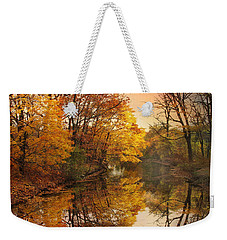 Weekender Tote Bag featuring the photograph Foliage Reflected by Jessica Jenney
