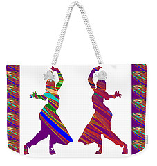 Weekender Tote Bag featuring the photograph Folk Dance Sparkle Graphic Decorations by Navin Joshi