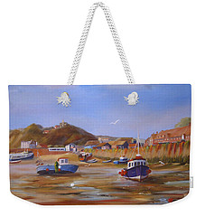 Folkestone Harbour Low Tide Weekender Tote Bag