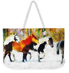 Follow The Leader Weekender Tote Bag by Greg Collins