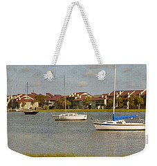 Folly Beach Boats Weekender Tote Bag