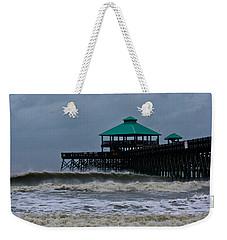 Folly Beach Pier During Sandy Weekender Tote Bag