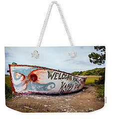 Weekender Tote Bag featuring the photograph Folly Boat by Sennie Pierson