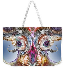 Weekender Tote Bag featuring the digital art Fomorii Incubator Remix by Otto Rapp