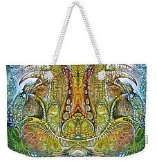 Weekender Tote Bag featuring the digital art Fomorii Throne by Otto Rapp