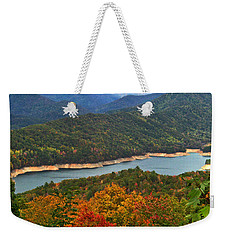 Fontana Lake In Fall Weekender Tote Bag