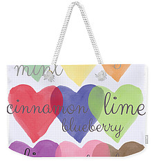 Foodie Love Weekender Tote Bag by Linda Woods