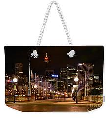 Foot Bridge By Night Weekender Tote Bag by Kaye Menner