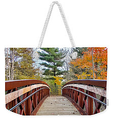 Foot Bridge In Fall Weekender Tote Bag