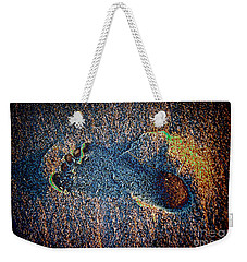 Weekender Tote Bag featuring the photograph Foot In The Sand by Mariola Bitner