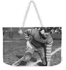 Football Fullback Player Weekender Tote Bag by Underwood Archives