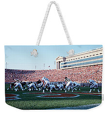 Football Game, Soldier Field, Chicago Weekender Tote Bag by Panoramic Images
