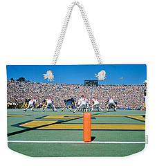 Football Game, University Of Michigan Weekender Tote Bag