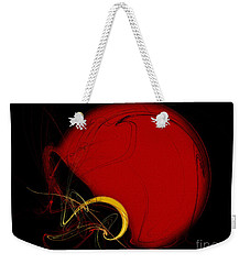 Football Helmet Red Fractal Art 2 Weekender Tote Bag