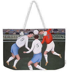 Football Weekender Tote Bag by Jerzy Marek