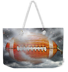 Football Pumpkin Weekender Tote Bag by James Larkin