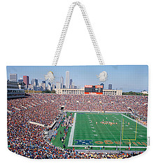 Football, Soldier Field, Chicago Weekender Tote Bag by Panoramic Images
