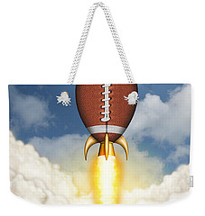Football Spaceship Weekender Tote Bag by James Larkin