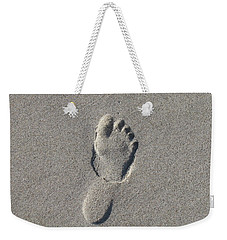 Footprint In The Sand Weekender Tote Bag
