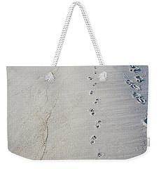 Footprints And Pawprints Weekender Tote Bag