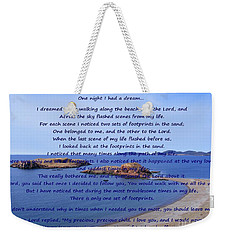 Footprints In The Sand 2 Weekender Tote Bag
