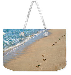 Footprints In The Sand Weekender Tote Bag by Juli Scalzi