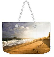 Footsteps In The Sand Weekender Tote Bag by Eti Reid