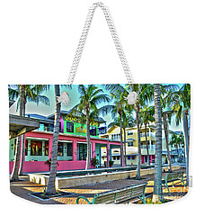 Weekender Tote Bag featuring the photograph For Myers Beach Restaurant by Timothy Lowry