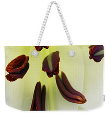 Weekender Tote Bag featuring the photograph For The Love Of Lilies 1 by Wendy Wilton