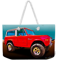 Ford Bronco Classic From Vivachas Hot Rod Art Weekender Tote Bag