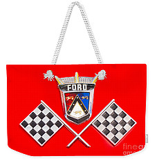 Ford Emblem Weekender Tote Bag by Jerry Fornarotto