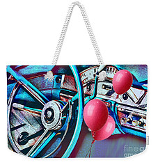 Ford Fairlane 500 Dashboard- Warhol-esque Weekender Tote Bag