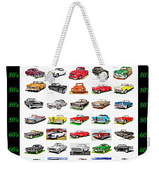 Four Decades Of Fords Poster Weekender Tote Bag